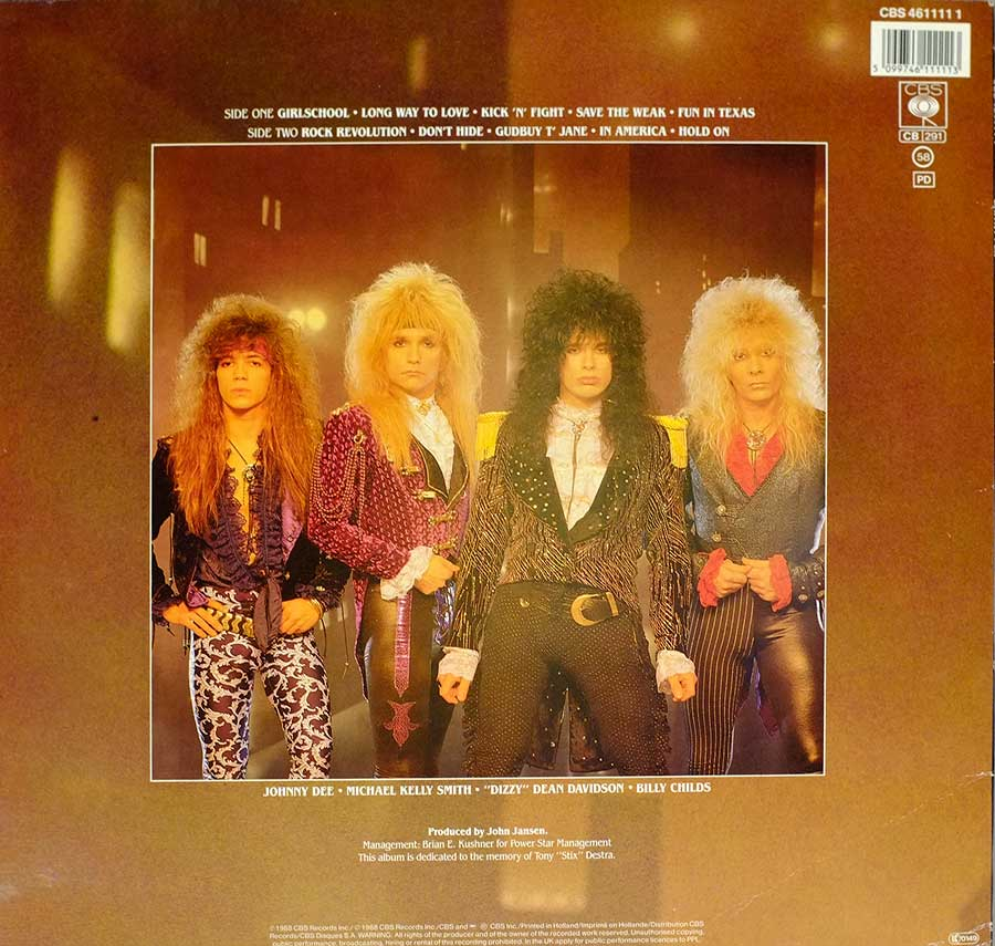 "BRITNY FOX - S/T Self-Titled 12"" LP VINYL Album back cover"