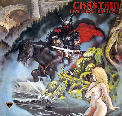 "Thumbnail of CHASTAIN - Mystery of Illusion 12"" Vinyl LP Album album front cover"