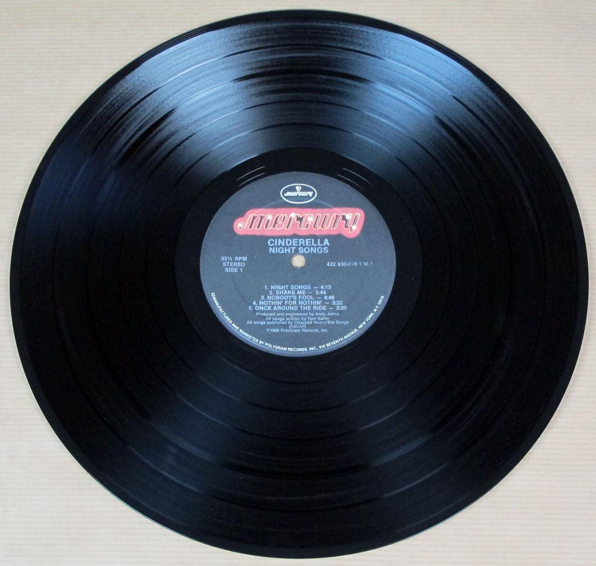 CINDERELLA Night Songs (USA) Glam Metal, Hair Metal Vinyl ...