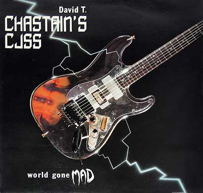 "Thumbnail of DAVID T CHASTAIN'S CJSS - World Gone Mad 12"" Vinyl LP Album album front cover"