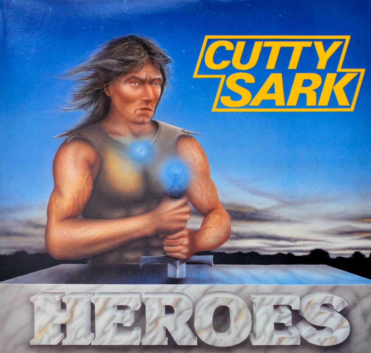 "Large Album Front Cover Photo of CUTTY SARK – Heroes Heavy Metal 12"" Vinyl LP"