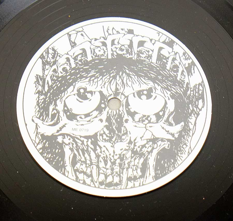 "Close up of Side One record's label DANZIG - Danzig Unofficial Feat Metallica ME 0719 12"" LP VINYL"
