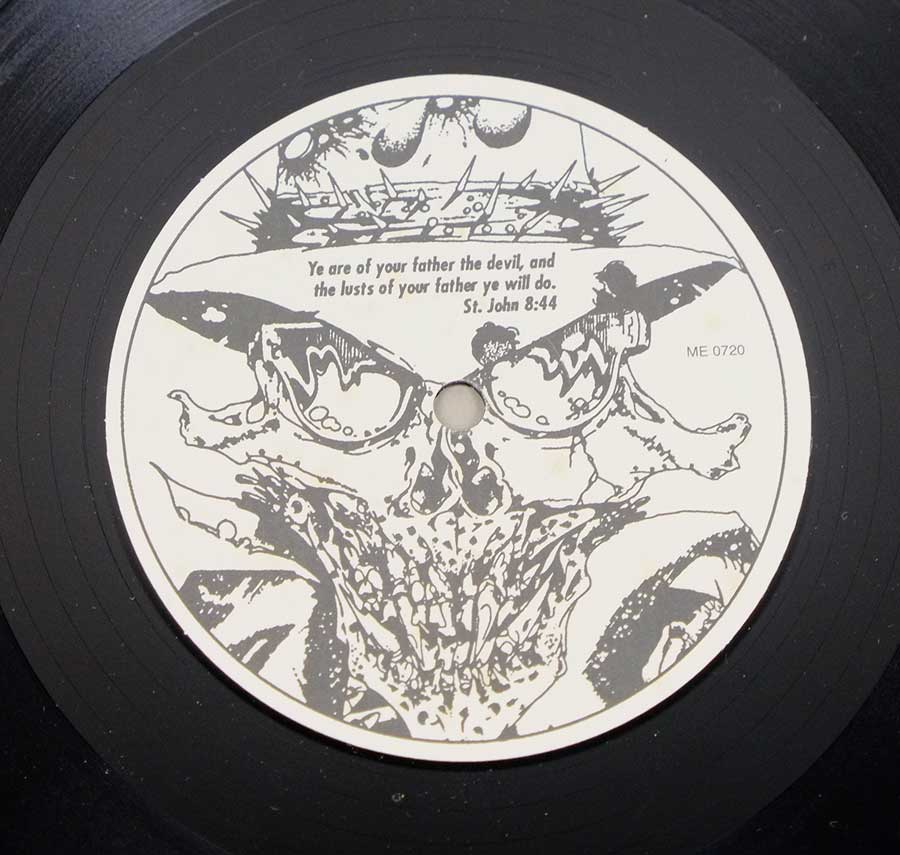 "Side Two Close up of record's label DANZIG - Danzig Unofficial Feat Metallica ME 0719 12"" LP VINYL"