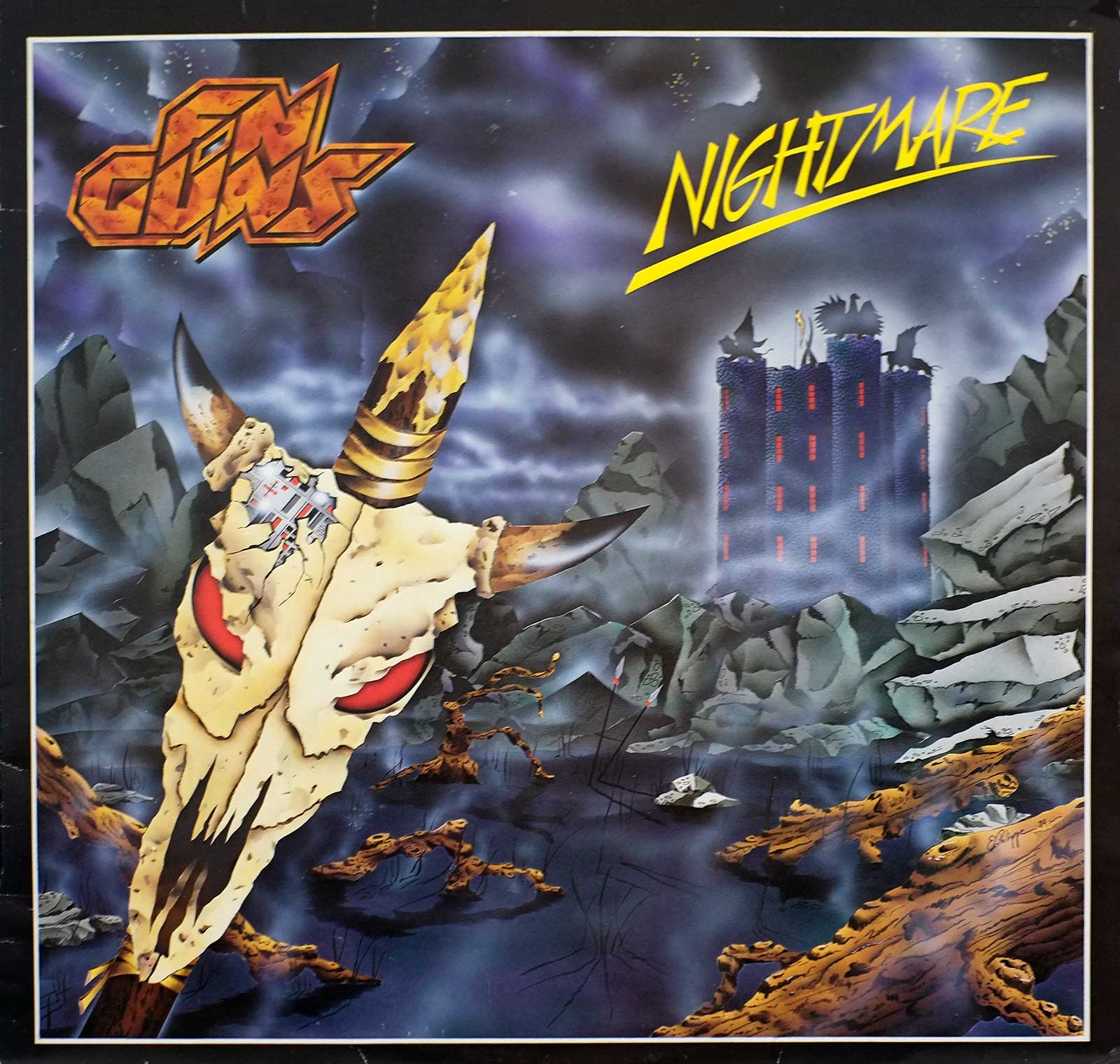 large photo of the album front cover of: FN GUNS - Nightmare LP
