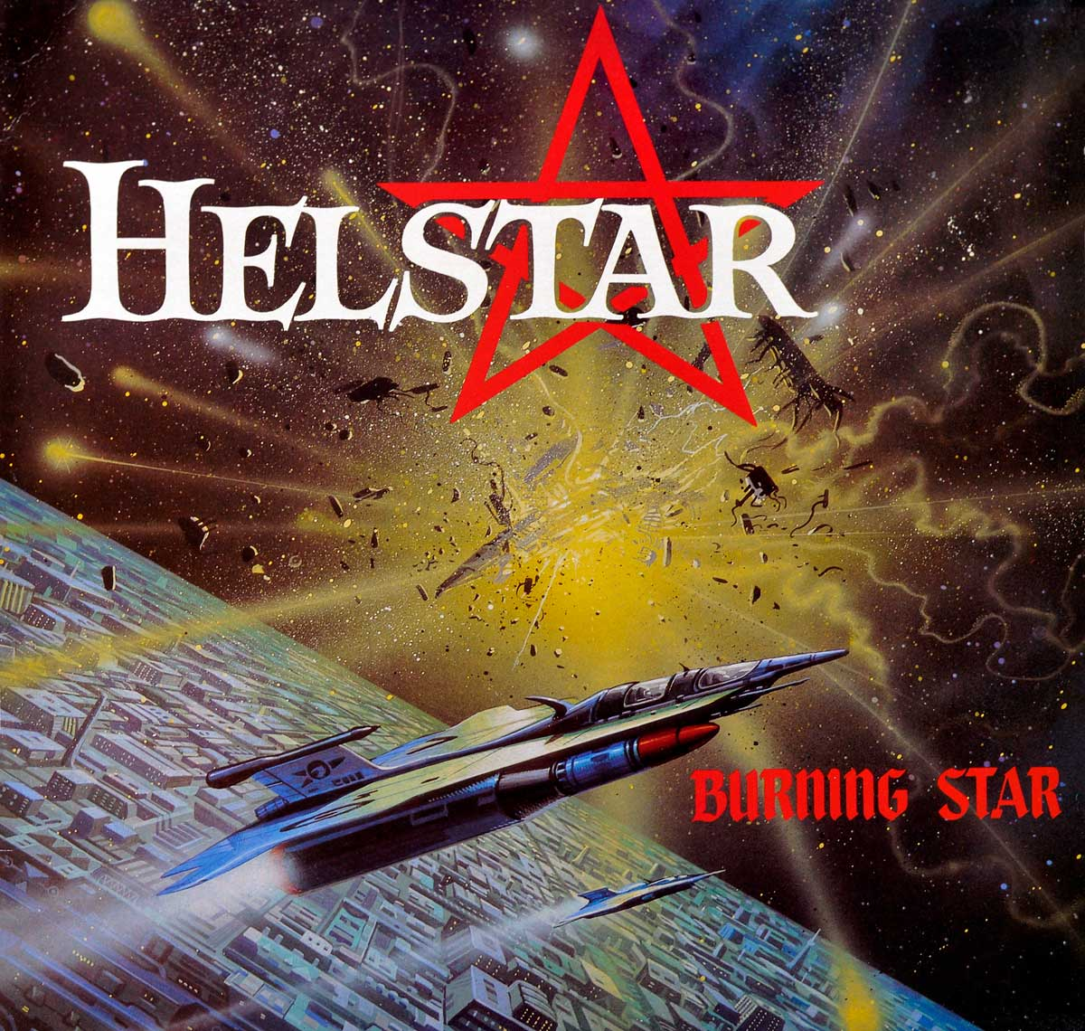 large photo of the album front cover of: HELSTAR Burning Star