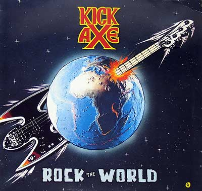 Thumbnail Of  KICK AXE - Rock The World album front cover
