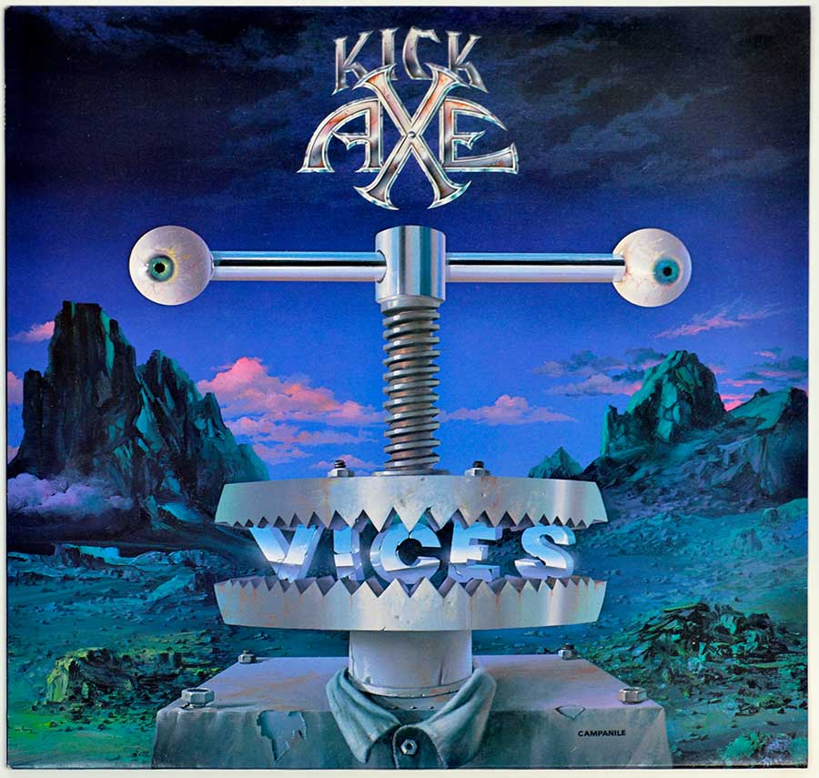 "High Quality Photo of Album Front Cover  ""KICK AXE Vices"""