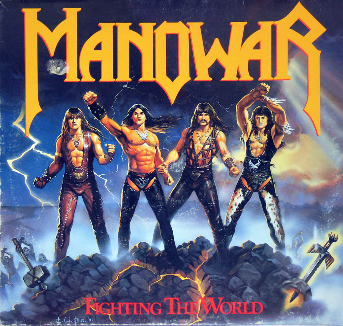High Resolution Photo of Manowar Fighting the World EEC