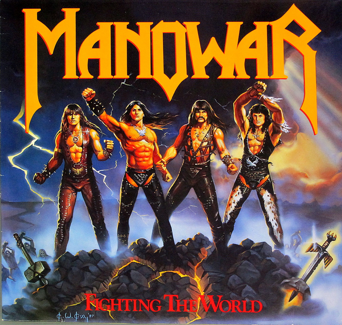 High Resolution Photo of MANOWAR - Fighting the World White Label