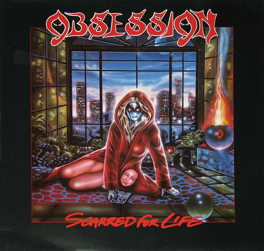 "OBSESSION - Scarred For Life 12"" VINYL LP ALBUM front cover https://vinyl-records.nl"