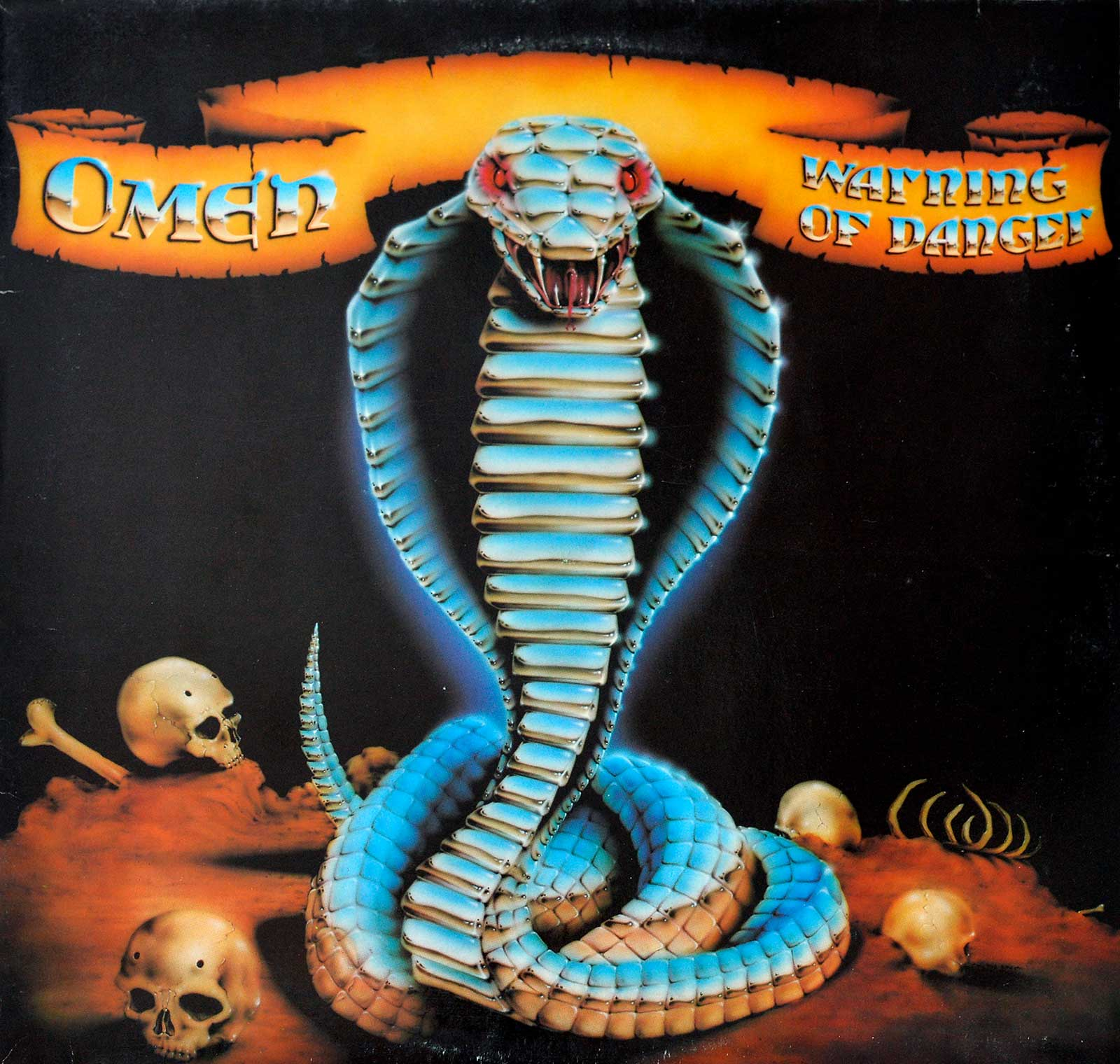 large photo of the album front cover of: Warning of Danger by Omen