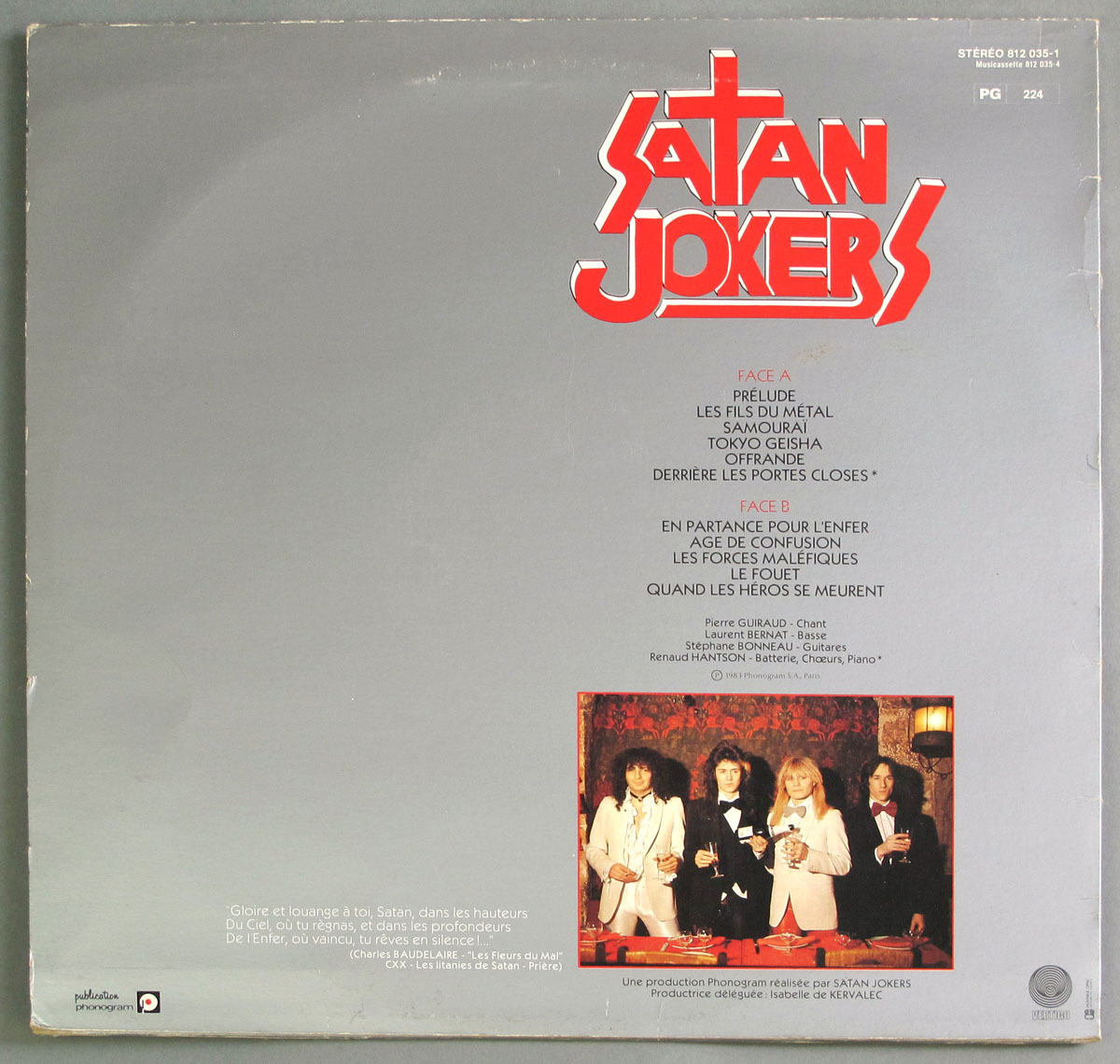 High Resolution Photo #11 SATAN JOKERS - Les Fils du Metal https://vinyl-records.nl