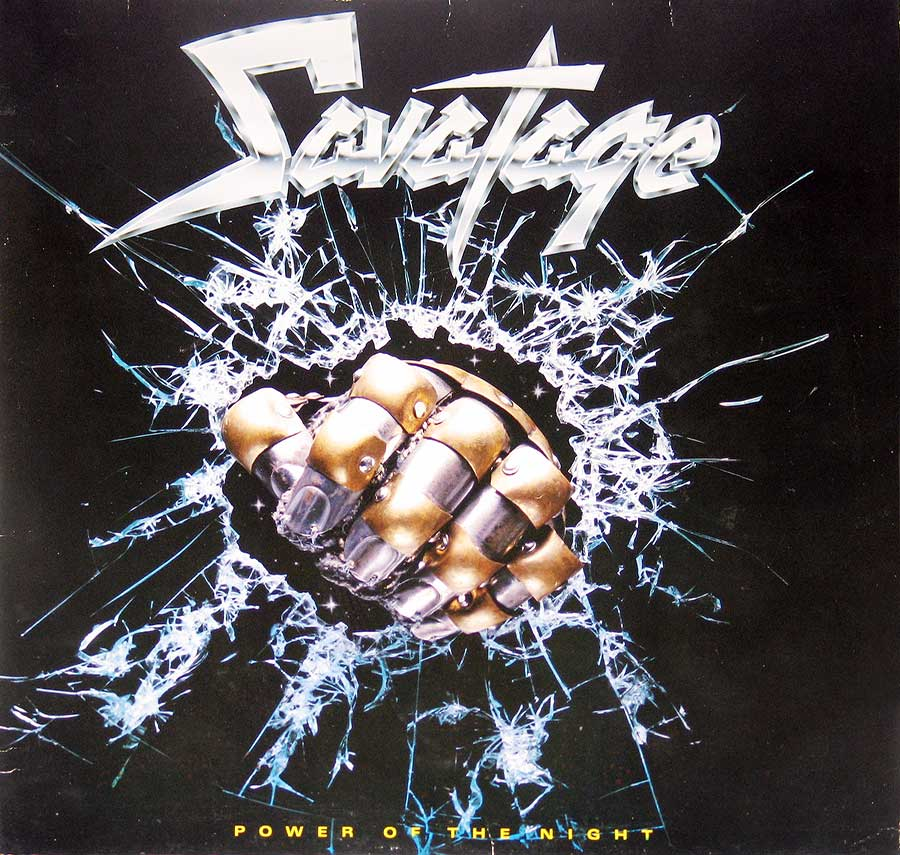 large photo of the album front cover of: SAVATAGE - Power of the Night