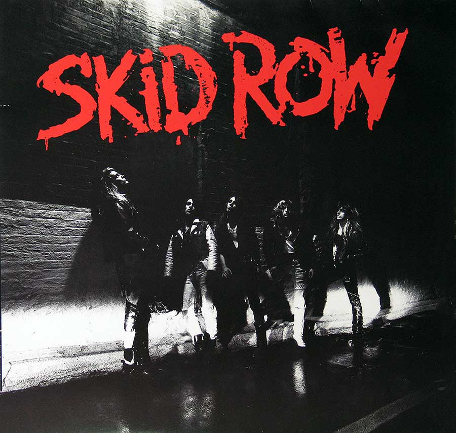 "Large Album Front Cover Photo of SKID ROW - S/T Self-Titled Heavy Metal 12"" Vinyl LP"