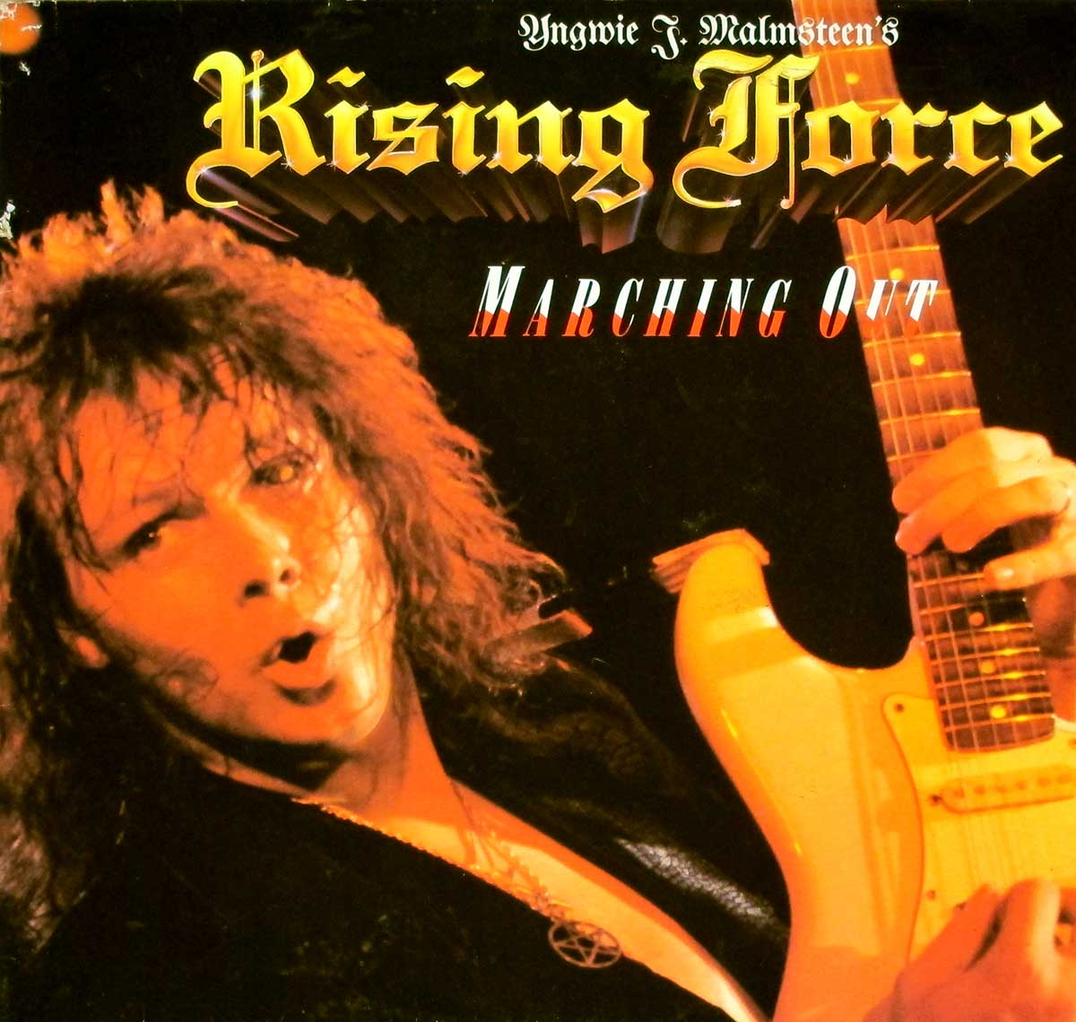 "High Quality Photo of Album Front Cover  ""YNGWIE MALMSTEEN'S RISING FORCE - Marching Out"""
