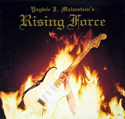 "Thumbnail of YNGWIE J. MALMSTEEN Rising Force 12"" Vinyl LP album front cover"