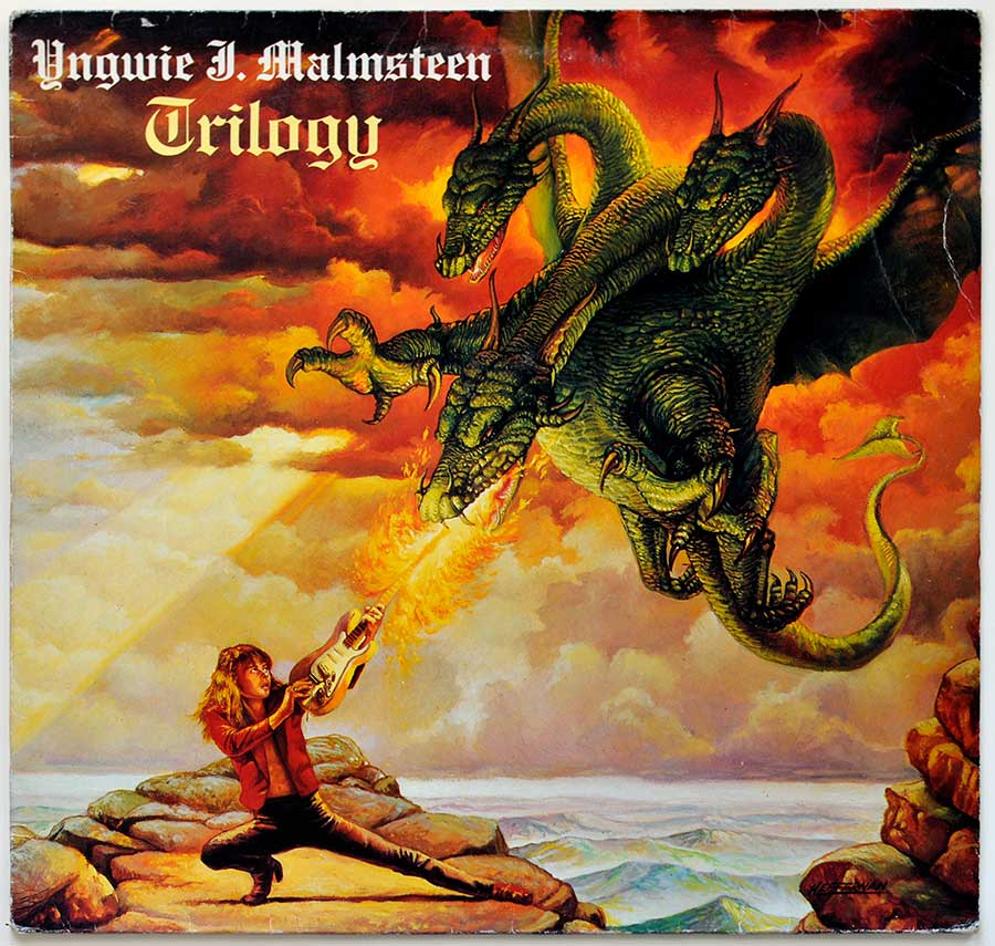 "Front Cover Photo Of YNGWIE MALMSTEEN - Trilogy 12"" Vinyl LP"