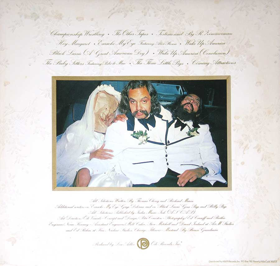 "Photo of the right page inside cover CHEECH CHONG's - Wedding Album Gatefold Cover 12"" VINYL LP ALBUM"