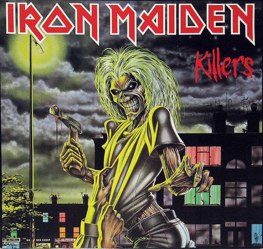 "IRON MAIDEN - Killers Canada 12"" VINYL LP ALBUM album front cover"