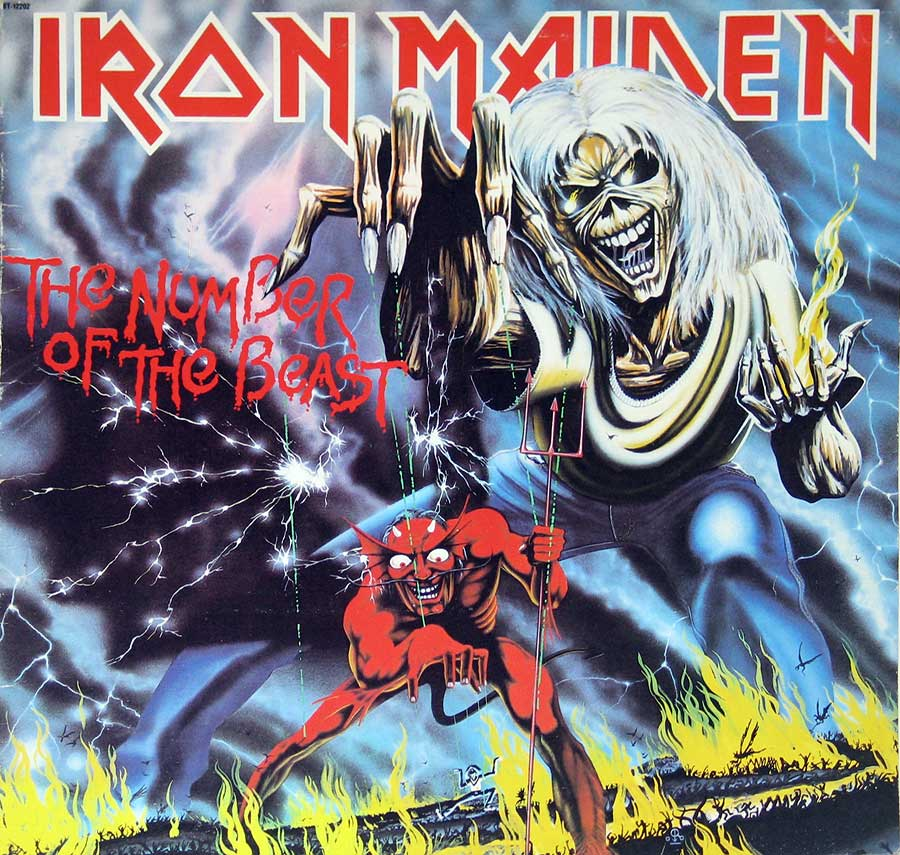 large photo of the album front cover of: IRON MAIDEN - The Number of the Beast ( Canadian Release )