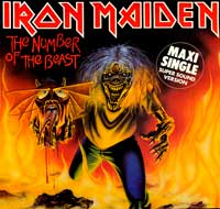 "Thumbnail Of  New Entry IRON MAIDEN - The Number of the Beast 12"" Maxi  album front cover"