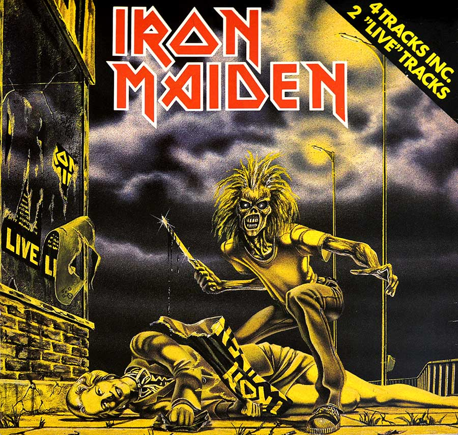 "IRON MAIDEN - Sanctuary Netherlands 12"" EP VINYL Record  front cover https://vinyl-records.nl"