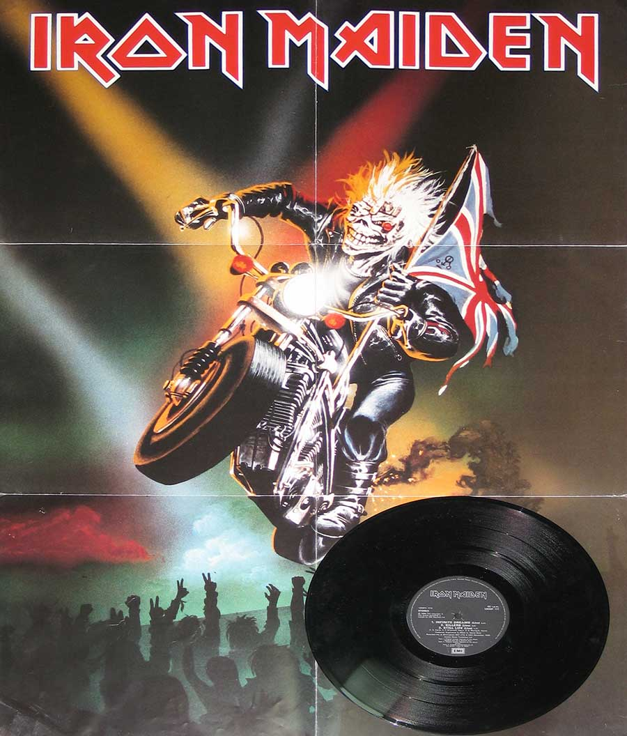 Photo of the poster bag IRON MAIDEN Infinite Dreams Autographed Disc Poster Bag