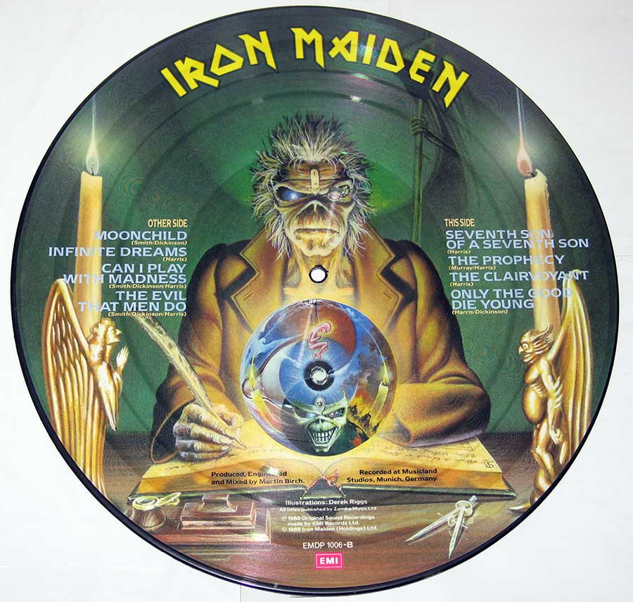 "IRON MAIDEN - Seventh Son Of A Seventh Son Picture Disc 12"" Vinyl  vinyl lp record"