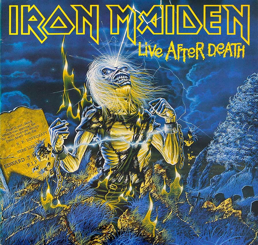 Front Cover Photo Of IRON MAIDEN - Live After Death 2LP (incl. Booklet) (Europe)