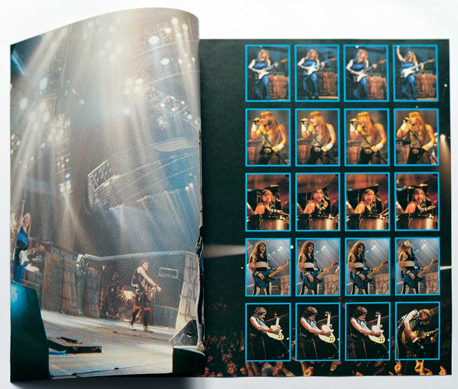 Photo of the opened booklet  IRON MAIDEN - Live After Death 2LP (incl. Booklet) (Europe)
