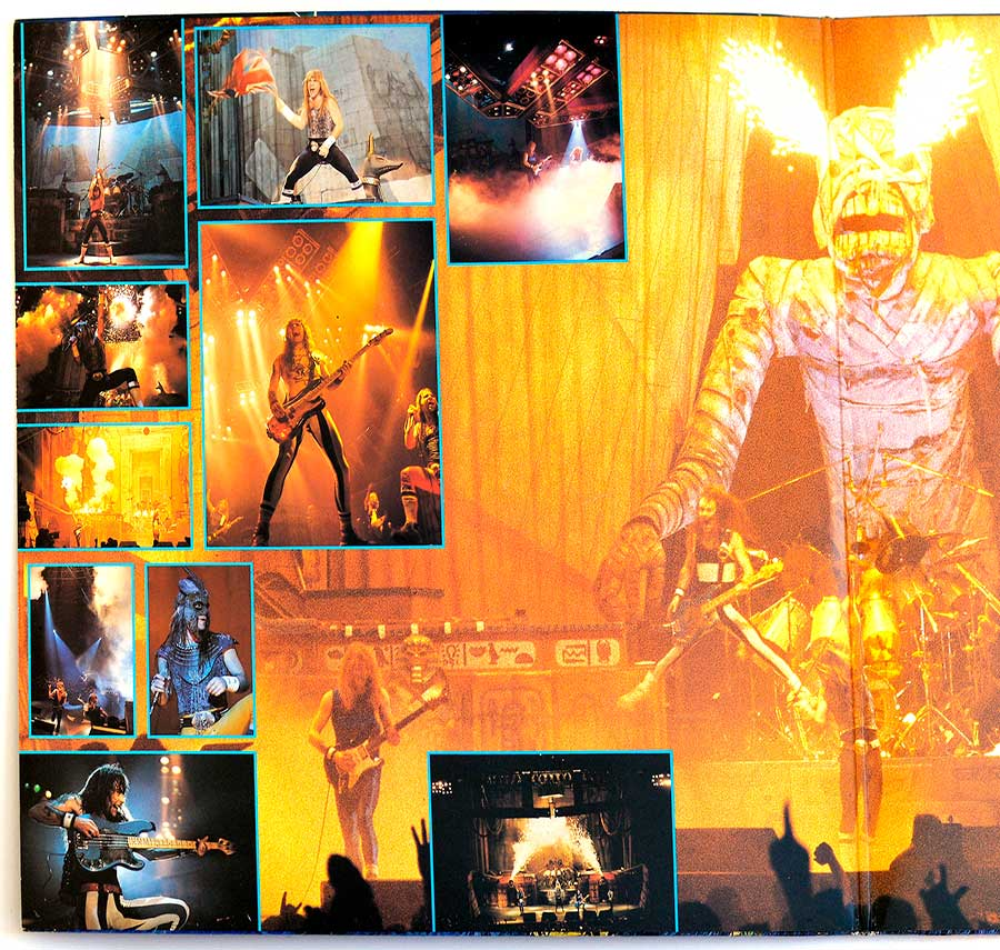 Photo of the left inside page of the booklet IRON MAIDEN - Live After Death 2LP (incl. Booklet) (Europe)