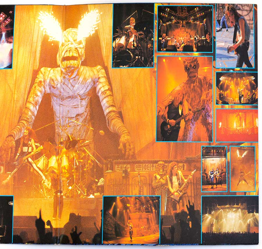 Photo of the right page of the booklet IRON MAIDEN - Live After Death 2LP (incl. Booklet) (Europe)