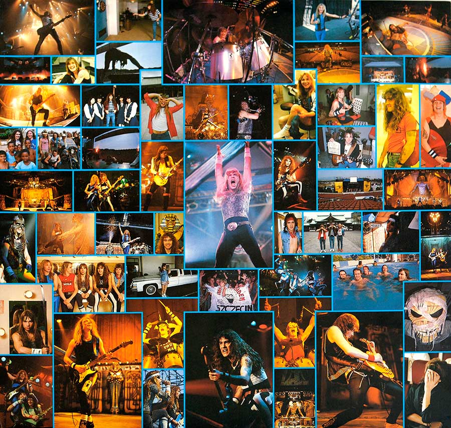 Photo One Of The Original Custom Inner Sleeve IRON MAIDEN - Live After Death 2LP (incl. Booklet) (Europe)