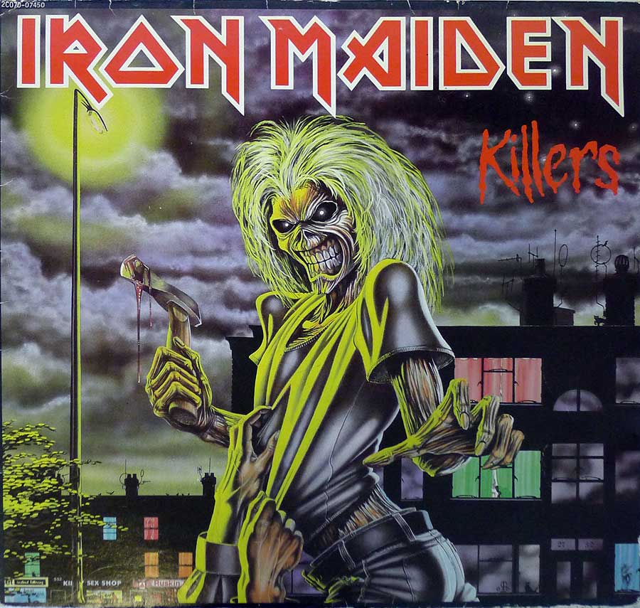"IRON MAIDEN - Killers France Release 12"" LP ALBUM VINYL  album front cover"