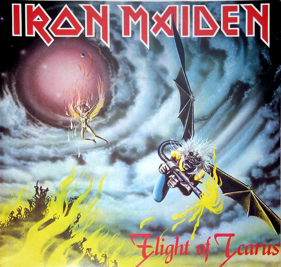 "IRON MAIDEN Flight of Icarus / I've Got The Fire Germany 7"" Single Vinyl album front cover"