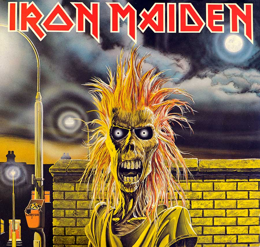 "IRON MAIDEN - Self-Titled Made in Holland 12"" LP ALBUM VINYL  front cover https://vinyl-records.nl"