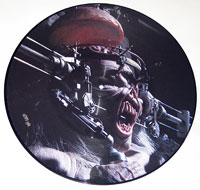 "Thumbnail Of  IRON MAIDEN - Man On The Edge 12"" Picture Disc  album front cover"