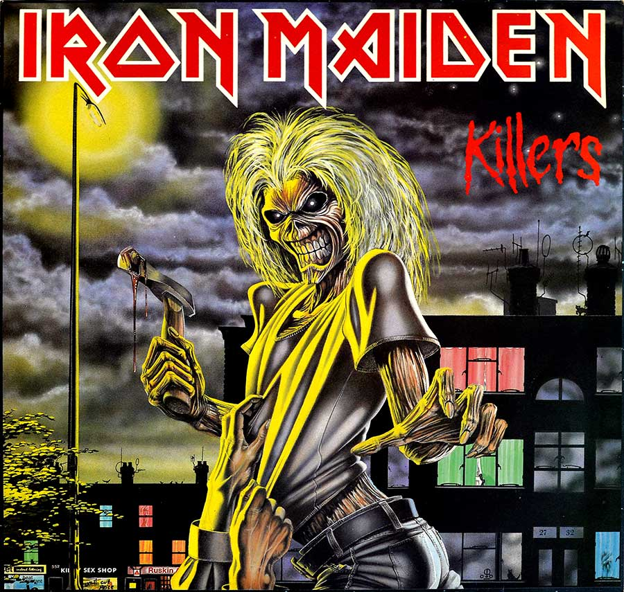 "IRON MAIDEN - Killers Netherlands 12"" LP ALBUM VINYL front cover https://vinyl-records.nl"