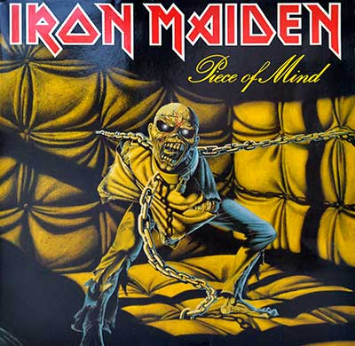 "Picture Of IRON MAIDEN - Piece Of Mind ( Gatefold, Europe ) 12"" LP album front cover"