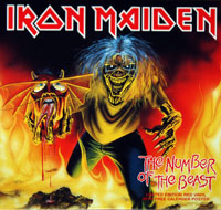 "Thumbnail Of  IRON MAIDEN - Number of the Beast Red Vinyl 7"" Single  album front cover"