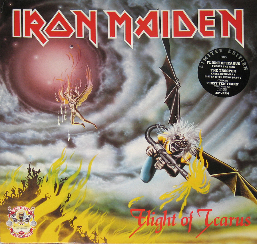 Front Cover Photo Of IRON MAIDEN - Flight of the Icarus