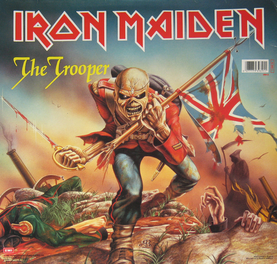 Front Cover Photo Of IRON MAIDEN - The Trooper First Ten Years