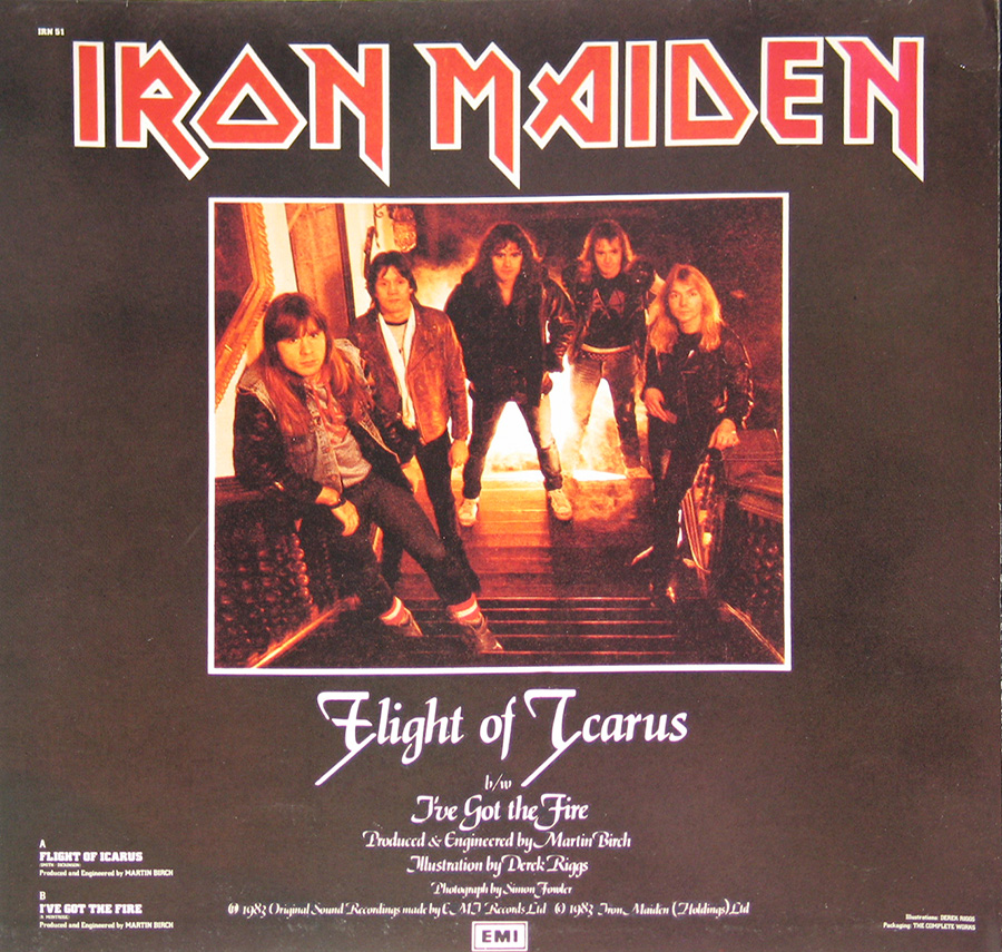 Photo of album back cover IRON MAIDEN - The Trooper First Ten Years