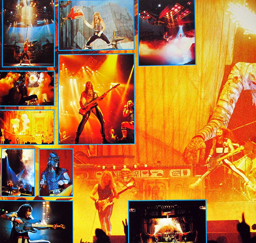 IRON MAIDEN - LIVE AFTER DEATH Usa Release 2LP + Booklet vinyl Album inner gatefold cover