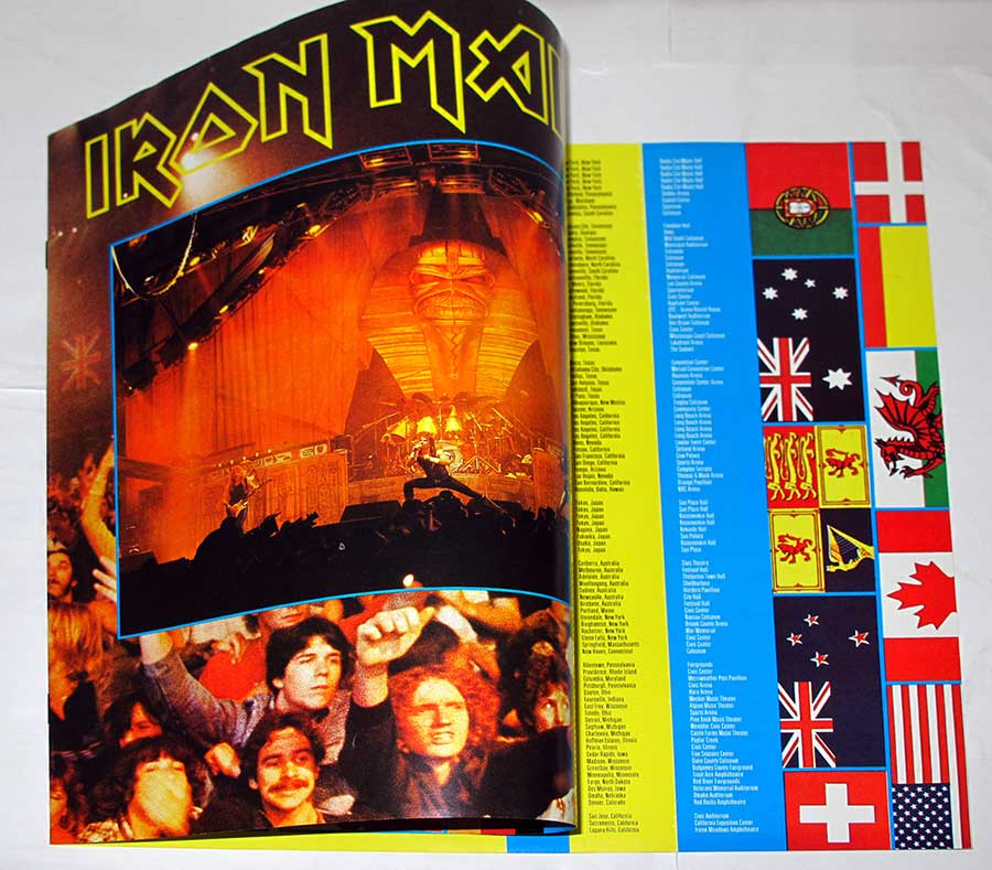 IRON MAIDEN - LIVE AFTER DEATH Usa Release 2LP + Booklet vinyl Album custom inner sleeve
