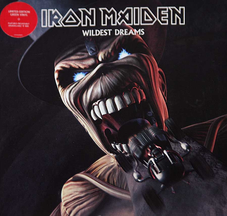 "Front Cover Photo Of IRON MAIDEN - Wildest Dreams / Pass the Jam Green Vinyl 7"" Single"