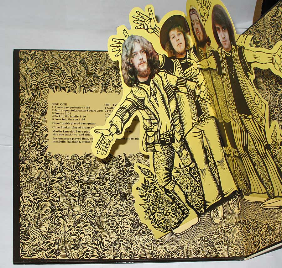 "Photo of the left page inside cover JETHRO TULL - Stand Up Pop-Up Gatefold 12"" LP Vinyl Album"