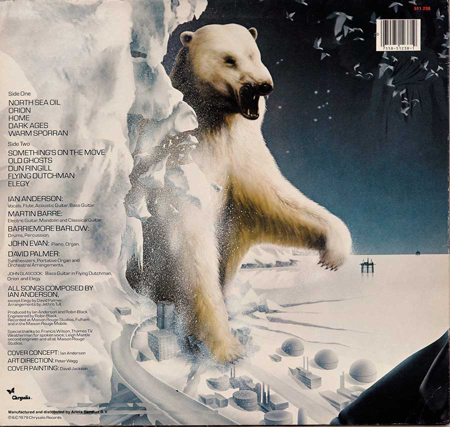 Photo of album back cover JETHRO TULL - Storm Watch ( Netherlands Release )