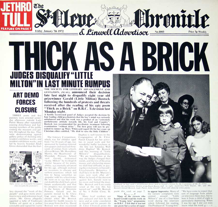 Front Cover Photo Of JETHRO TULL - Thick as a Brick ( Germany )