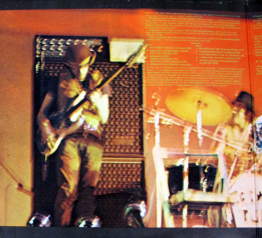 "Photo of the left page inside cover JETHRO TULL - This Was UK England Gatefold Cover 12"" LP Vinyl Album"